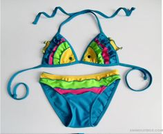 New Children's Hot Spring Bikini Fish Girls Swimwear