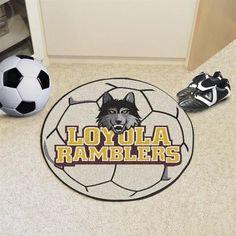 Loyola University Soccer Ball Floor Rug Mat