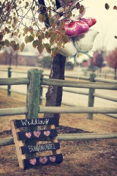 Another realistic and cheap wedding idea, that would work for any event.  Spray paint chalk on an old crate!