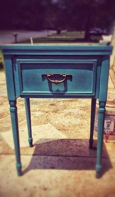 Sewing cabinet repurposed into a nightstand for a client