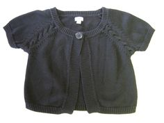 Worthington Shrug Sweater S Small Black SS Short Sleeve CLEARANCE SALE #Worthington #Shrug