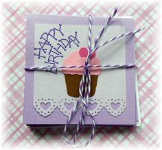 Happy Birthday  Cupcake  ~ Mini Note Cards with by HeartsCalling