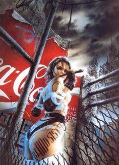 The Art of Luis Royo - Luis Royo Fantasy Dark Fantasy Art, Fantasy Art Women, Fantasy Girl, Fantasy Artwork, Pinup, Luis Royo, Fantasy Illustration, Gothic Art, Fantastic Art