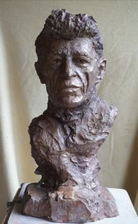 buste-d alberto-giacometti- bronze- sculpteur Gérard Lartigue Alberto Giacometti, Portfolio, Lartigue, Sculpture, Statue, Bronze, Ceramics, Ceramica, Pottery