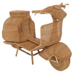 Life Size Wicker Vespa