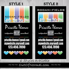 Unique Vertical Black Rodan and Fields business by OutOfNormal