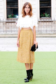 Alexa Chung attends the Royal Academy Summer Exhibition preview party at the Royal Academy of Arts