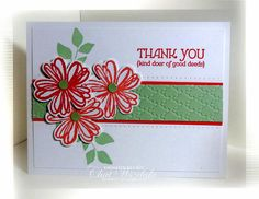 Stampin' Up Pansy Punch Card