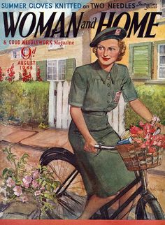 August 1944 cover of Woman and Home magazine - Illustrator unknown