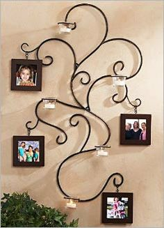 victorian wall decor | Hanging Wrought Iron Victorian Scrollwork Wall Metal Art Decor Pic #7