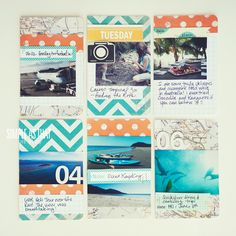 simple as that: DIY Pocket Travel Journal Tutorial by Rebecca Cooper.  Love that she used her airplane ticket as one of the pages in another photo!