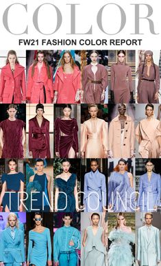 Global leading fashion trend forecasting company for brands, designers and retailers for better market insight, silhouettes, color and textile direction. Fashion Themes, 2020 Fashion Trends, Fashion Colours, Colorful Fashion, Spring Summer Fashion, Autumn Winter Fashion, Spring Summer Trends, Trend Council, Fashion Forecasting
