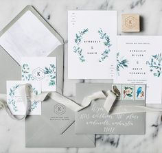 Love this elegant and modern invitation suite. Gorgeous colour palette.