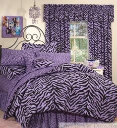 Purple Zebra Bedding (Twin, Twin XL, Full, Queen and Daybed sizes)