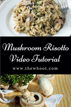You are going to love this easy and delicious Mushroom Risotto Recipe and it packs a flavor punch and will become your new favorite to make. Cooking Risotto, Risotto Recipes, Cooking Bacon, Cooking Oil, Cooking Videos Tasty, Cooking Recipes, Cooking Games, Cooking Classes, Veggie Recipes