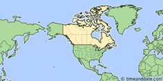 Map showing the location of Montreal. Click map to see the location on our worldwide Time Zone Map. Time Zone Map, Time Zones, Astronomical Twilight, Moon Facts, Daylight Savings Time, Of Montreal, Newfoundland And Labrador, Canada