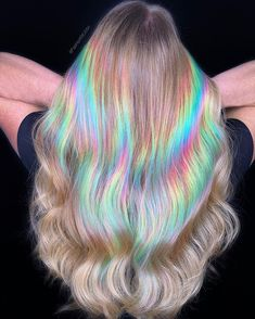 Vivid Hair Color, Hair Dye Colors, Cool Hair Color, Aesthetic Hair, Dye My Hair, Rainbow Hair, Crazy Hair, Hair Looks, Locks