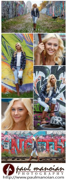 Beautiful senior pictures pose ideas for girls with graffiti - Best Graffiti Senior Portraits - Detroit Photographers