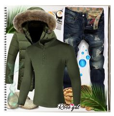 """Green Magic"" by azra-v ❤ liked on Polyvore featuring men's fashion and menswear"