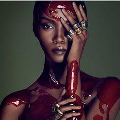 Riley Montana by lango Henzi & Luigi Murenu @voguegermany @luigiandiango @loveme_rileym @patti_wilson @_virginiayoung_ ________________________________________________#lfl#lookbook#gorgeous#beauty#blackbeauty#blackmodels#flawless#artist#artistinthemaking#amazing#blackout#melaninonfleek#blackqueen#art#pingcreators