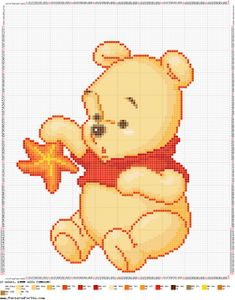 Cross Stitch Baby, Cross Stitch Patterns, Baby Blanket Crochet, Crochet Baby, Pixel Drawing, Friendship Bracelets Designs, C2c, Baby Boy Rooms, Baby Disney