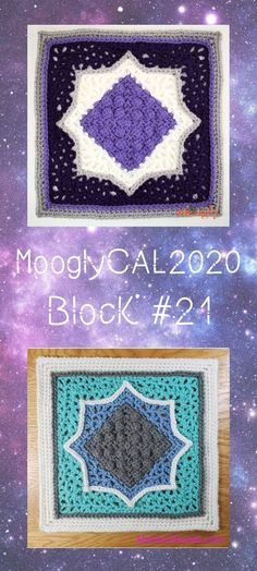 MooglyCAL2020 Block 21 is a fun and lovely square by Mamas2Hands! Texture and color combine - without too many ends! Part of the free year-long CAL! #mooglycal2020 #mooglycal #crochetalong #mamas2hands #freecrochet #freecrochetblocks