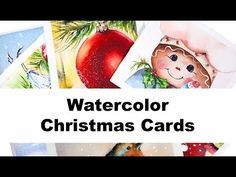 Watercolors - Easy Holiday Cards Painting Tutorial - YouTube
