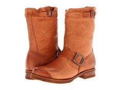 Frye Veronica Shortie Burnt Red Soft Vintage Leather - Zappos.com Free Shipping BOTH Ways