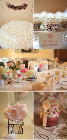 Vintage Inspired Bridal Shower by Clemens Designs | Style Me Pretty