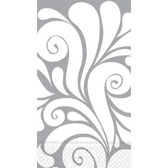 Case of Fiore Silver Damask Guest Towels | $83.40 for 180