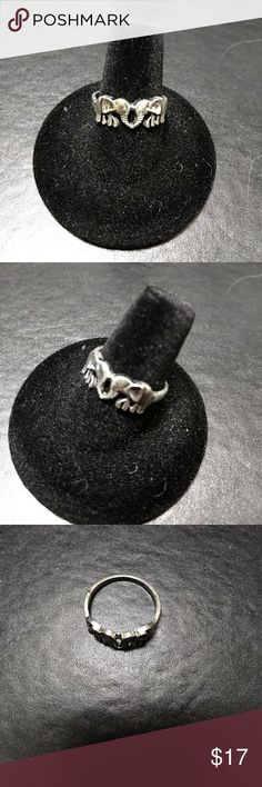 Silver tone ring Cute elephant fashion ring. Ring has small manufacturer defect - see photos. Jewelry Rings