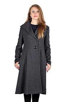 Vera Wang Woman's Charcoal Gray Wool Blend Fit