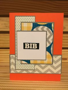 Bib baby handmade note card by MerciCadeaux on Etsy