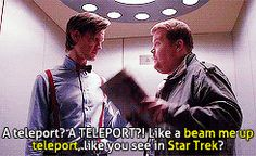 "12 Times ""Star Trek"" Fangirled On ""Doctor Who"".  I love it when the shows I love are loved by other shows I love!"