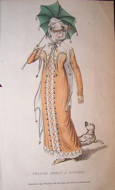 1810 - Belle Assemblee. Green parasol