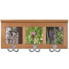 Flowers Coat Rack Unique and Beautifully Designed Always with Quality in Mind By listed artist Carole Anne Tomlinson