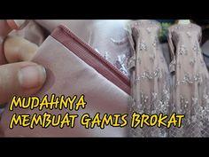 Menjahit gamis satin brokat - YouTube Kebaya Brokat, Dress Brokat, Dress Patterns, Sewing Patterns, Kebaya Muslim, Sewing Tutorials, Voss Bottle, Hijab Fashion, Satin