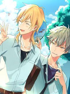 Kaoru x Kouga I Love Anime, Anime Guys, Manga Anime, Anime Art, Star Wallpaper, Star Art, Bishounen, Ensemble Stars, Manga Comics