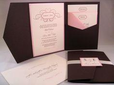 Invitacion boda cafe y rosa