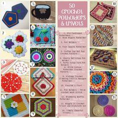 50 free crochet patterns for potholders