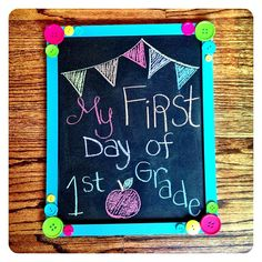 Chalkboard Photo Prop.   #Create2Educate #Sweepstakes. Enter your own project for a chance to win a $50 gift card to Michaels. Learn more:  https://www.facebook.com/Michaels?sk=app_584051421645085