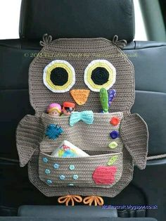 Crochet pattern Owl Treasure Organizer by ViTalinaCraft on . Crochet pattern Owl Treasure Organizer by ViTalinaCraft on… - Diy Baby Katharina Drotleff katharinadrotleff Handarbeiten Crochet patt Crochet Car, Bag Crochet, Crochet Owls, Cotton Crochet, Crochet Home, Crochet Gifts, Cute Crochet, Crochet For Kids, Crochet Patterns