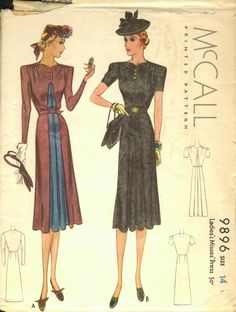 Vintage McCall Sewing Pattern 9896