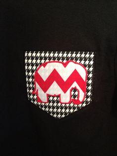 Alabama Elephant pocket shirt on Etsy, $25.00
