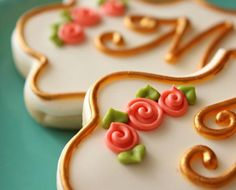 galletas decoradas forma corazon - Buscar con Google