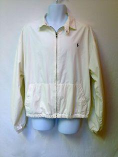 Ralph Lauren Mens Polo Lt Khaki Zip Front LS Lightweight Jacket Lined XL