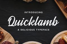 Quicklamb font on Behance Handwritten Script Font, Lettering, Cool Stuff, Behance, Drawing Letters, Brush Lettering