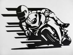 Hey, I found this really awesome Etsy listing at https://www.etsy.com/listing/205989069/motorcycle-racer-metal-wall-art