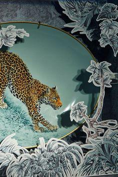 Hermes Carnets D'Equateur by Robert Dallet #leopard #porcelain