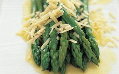 Asparagus, some butter and a touch of parmesan. So simple but so good! Asparagus Recipe, Parmesan, Green Beans, Butter, Favorite Recipes, Salad, Vegetables, Food, Touch